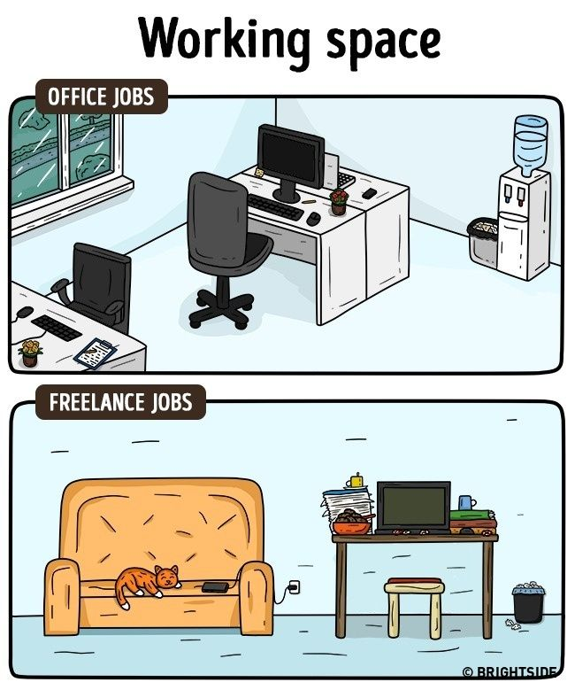 Perbedaan Freelance Dan Pekerja Kantoran 4