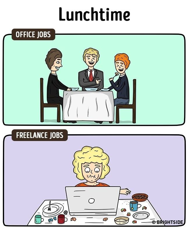 Perbedaan Freelance Dan Pekerja Kantoran 8