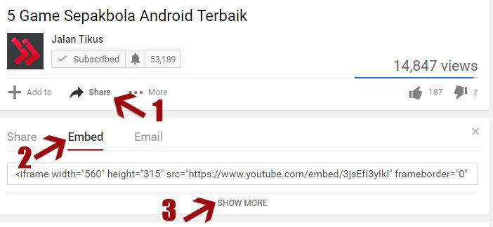 Cara Menambah Video Youtube Di Artikel Blog 5