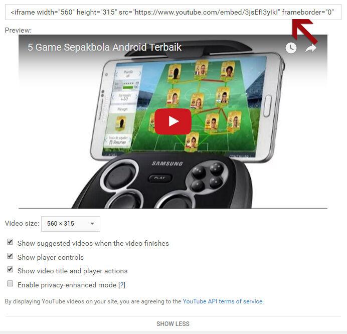 Cara Menambah Video Youtube Di Artikel Blog 6