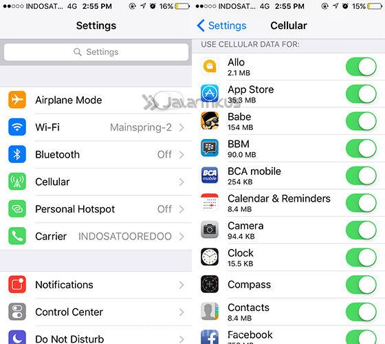 Menghemat Kuota Data Iphone 2