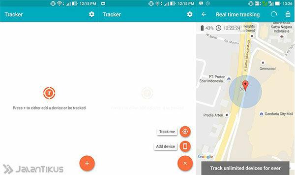 Aplikasi Android Terbaik Tracker