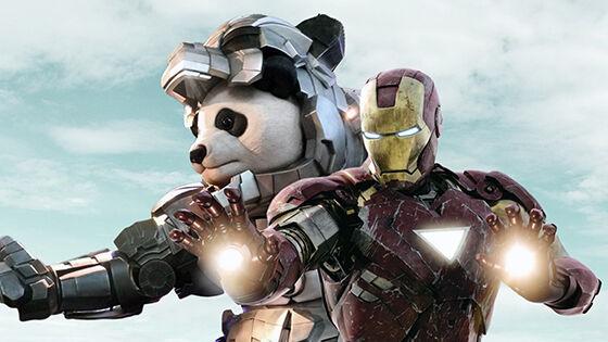 Iron Panda Pun Bergabung Dengan Iron Man