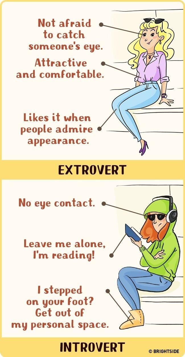 Perbandingan Introvert Dan Ekstrovert 10