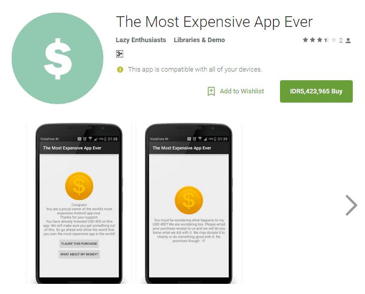 Aplikasi Android Paling Mahal Di Google Play 1