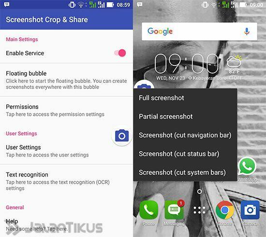 Cara Screenshot Android Sebagian Layar 2