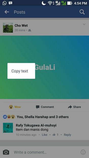 Cara Membuat Status Facebook Warna Warni 3