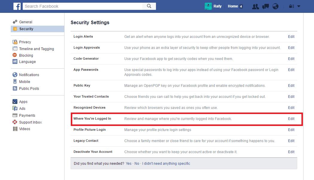 Tanda Akun Facebook Dihack Dan Cara Mengatasinya 9