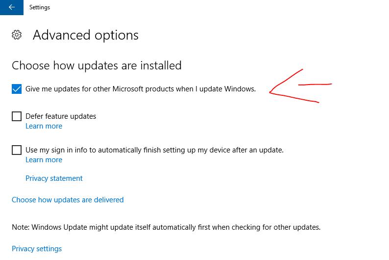 Konfigurasi Windows Update