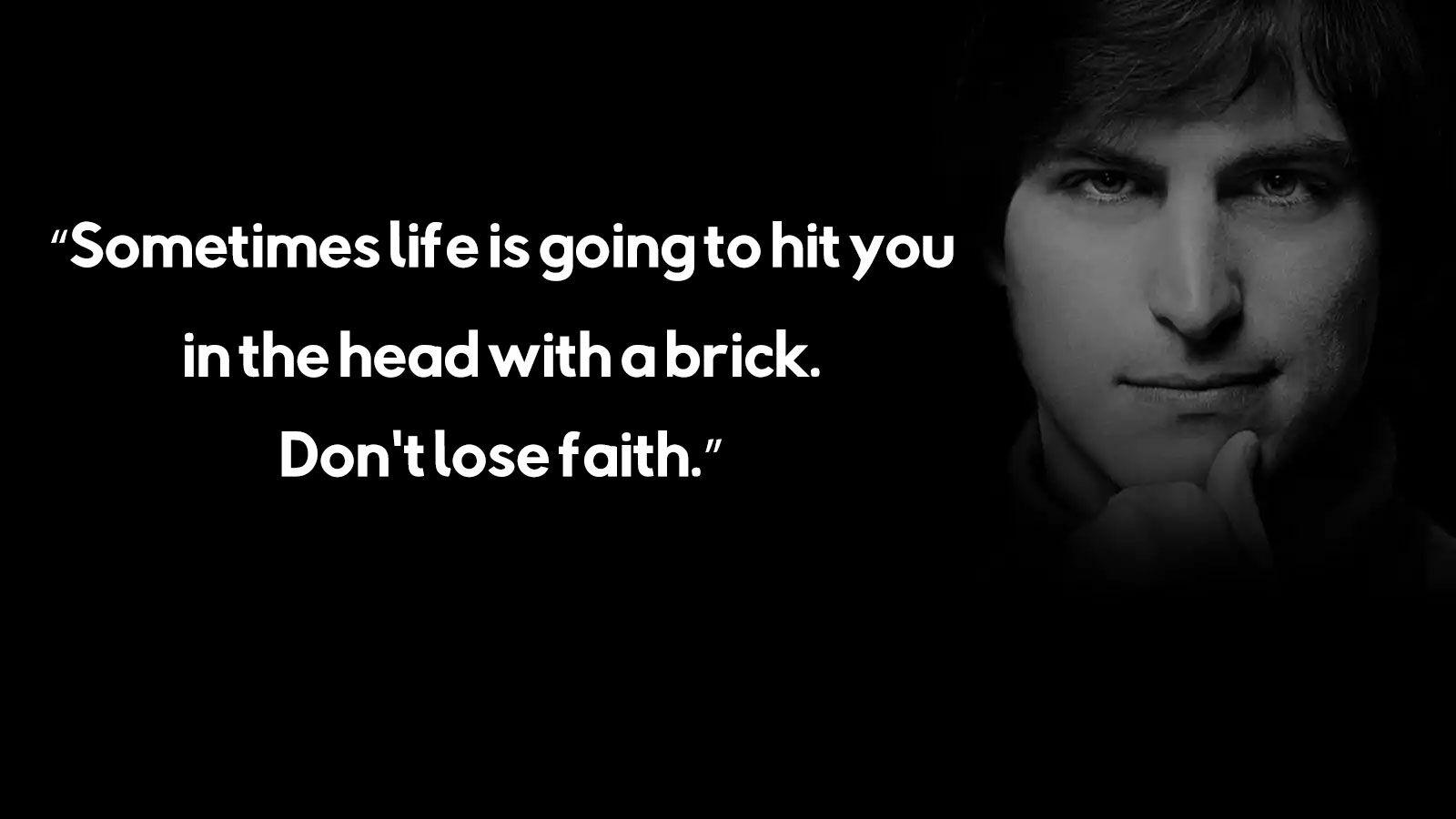 Kadang Kadang Hidup Akan Memukul Kamu Di Kepala Dengan Batu Bata Jangan Kehilangan Iman
