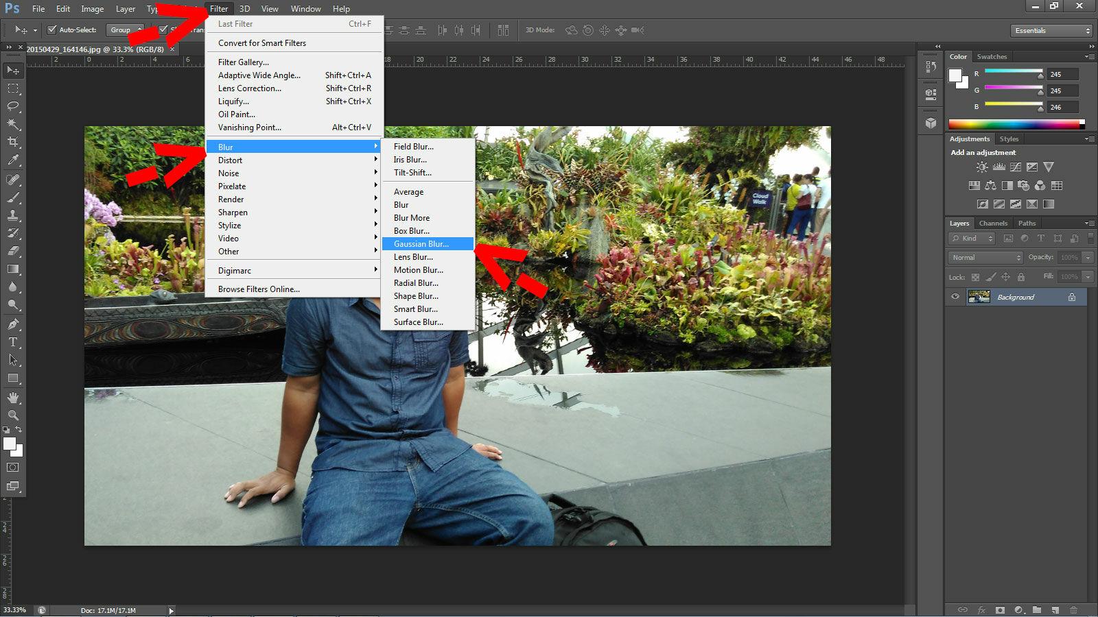 Cara Membuat Efek Instagram Di Photoshop 1