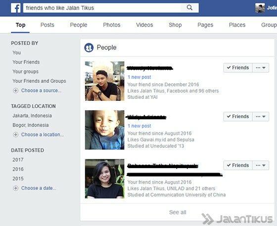 Searh Engine Facebook 2