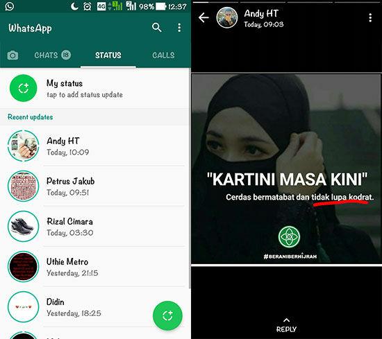 Cara Mengembalikan Status Lama Whatsapp 3