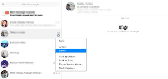 cara menghapus pesan facebook sekaligus