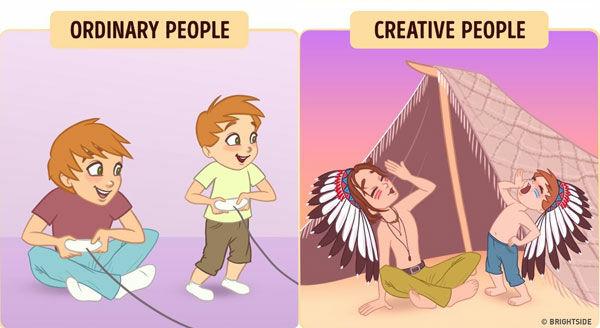 Perbedaan Orang Kreatif Dan Biasa 8