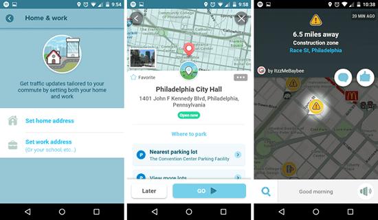 Google Maps vs Waze, gambar makeusof