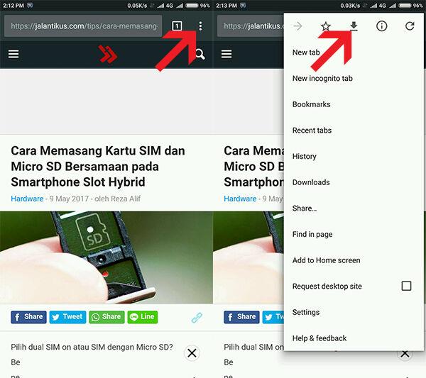Browsing Tanpa Internet Google Chrome Android 1