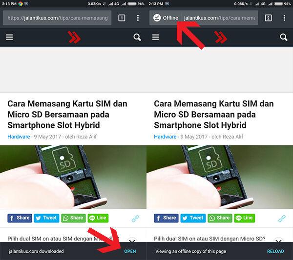 Browsing Tanpa Internet Google Chrome Android 2
