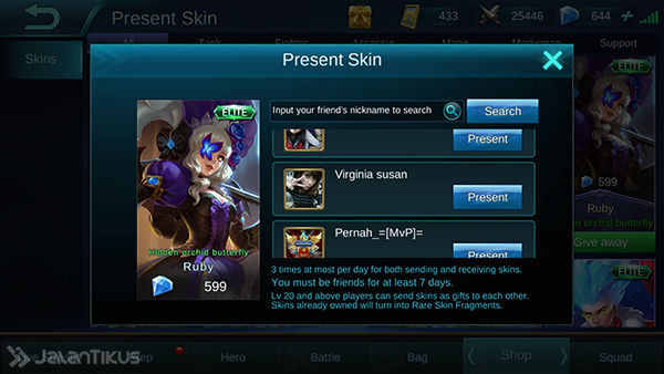 Cara Mendapatkan Skin Gratis di Mobile Legends