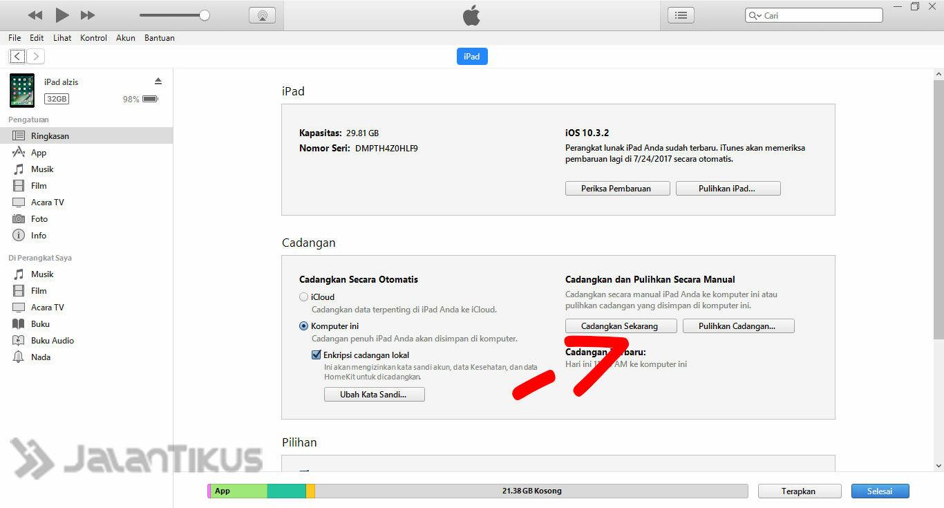 Cara Backup Data Iphone Ipad Itunes 3