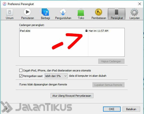 Cara Backup Data Iphone Ipad Itunes 4
