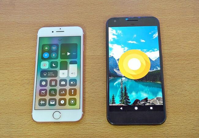 Perbandingan Android Oreo Ios 11