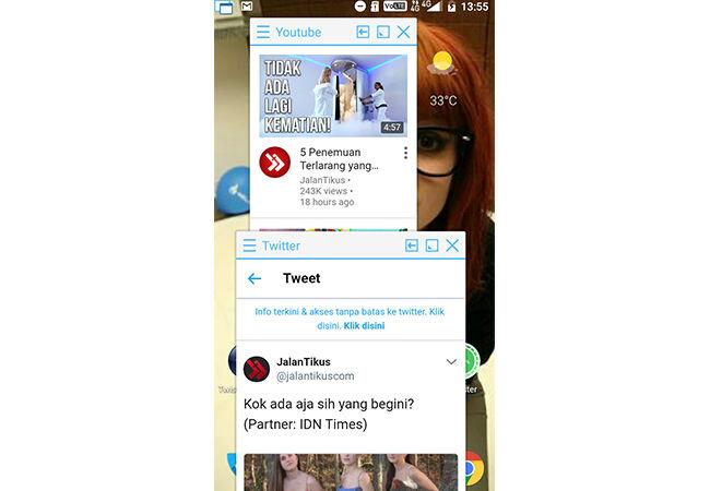 Cara Membelah Layar Android 4