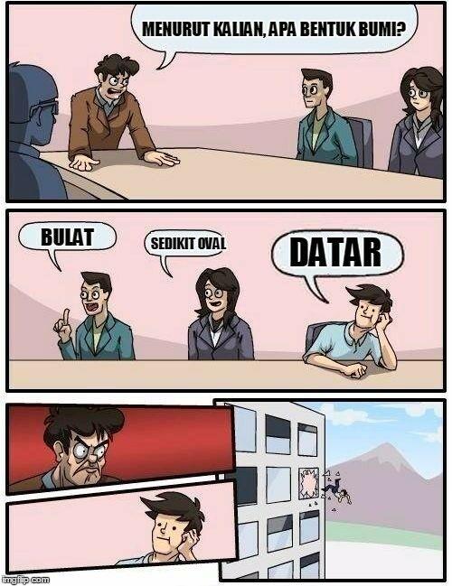 Meme Bumi Datar 10