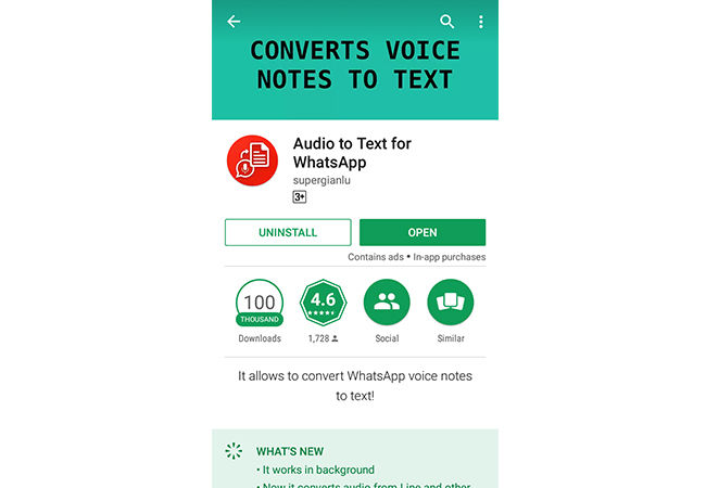 Audio Text For Whatsapp