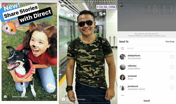Kirim Instagram Stories Via Chat