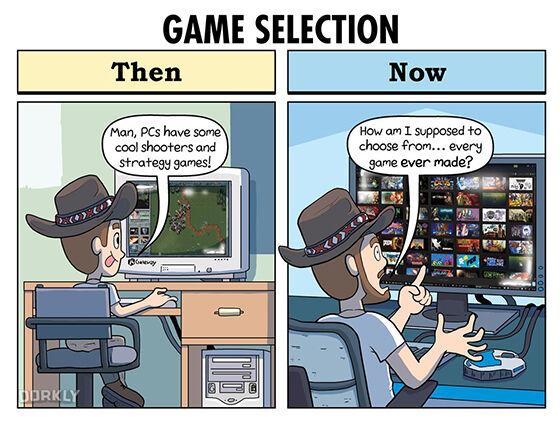 Ilustrasi Perbandingan Gamer Jadul Dan Jaman Now 05