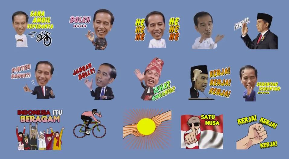 Preview Sticker Presiden Jokowi Karya Enhanced Monkey
