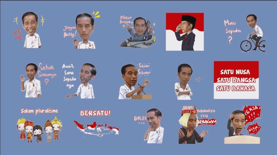 Preview Sticker Presiden Jokowi Karya Ichi Hikaru