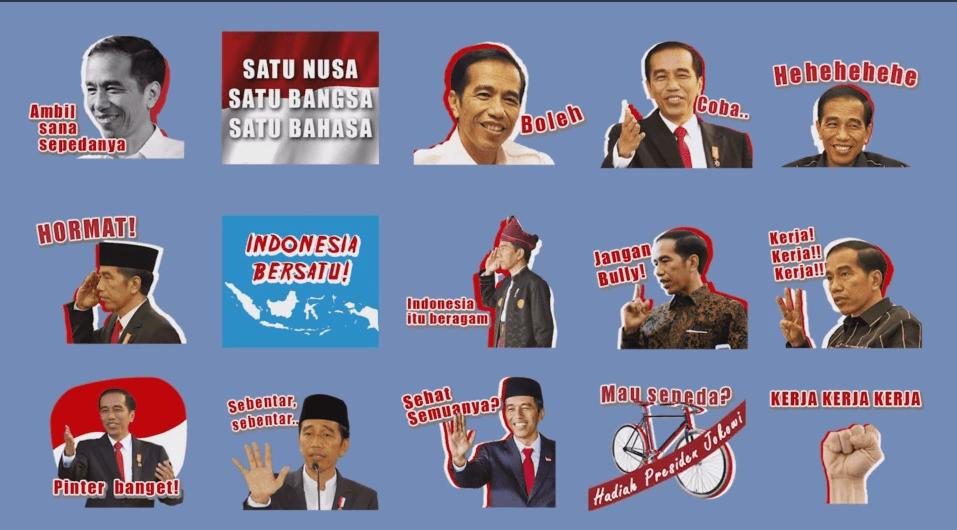 Preview Sticker Presiden Jokowi Karya Jottersf