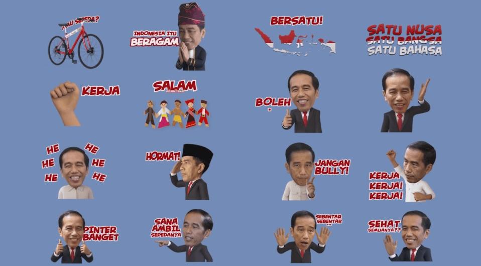Preview Sticker Presiden Jokowi Karya Segocha