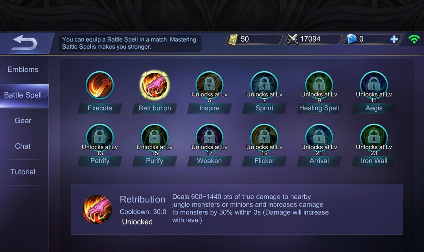 Mobile Legends Battle Spell