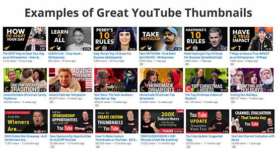 Gunakan Thumbnal Video yang Menarik