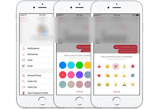 Aplikasi Facebook Messenger Kustomisasi