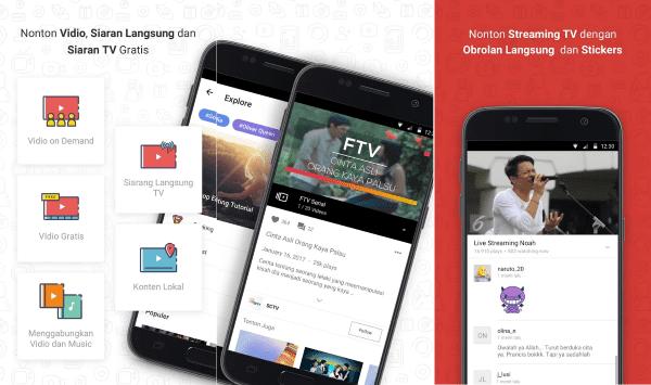 Vidio Aplikasi Streaming Tv 1