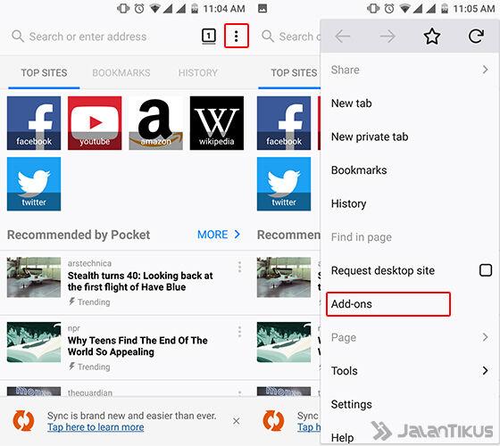 Cara Mengubah Tampilan Browser Android 1
