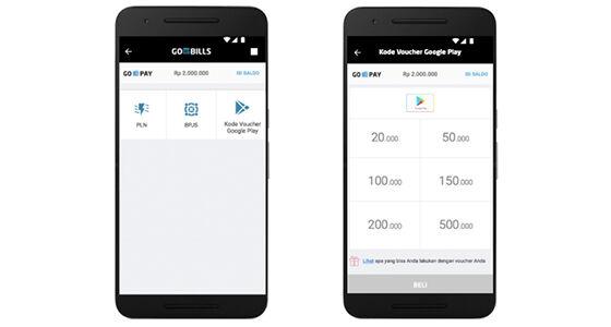Voucher Google Play Go Jek Tokopedia 2