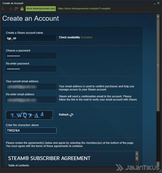 Cara Membuat Akun Steam Client 2