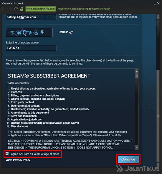 Cara Membuat Akun Steam Client 3