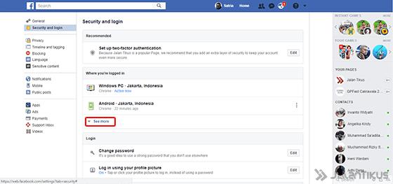 Cara Logout Facebook 3