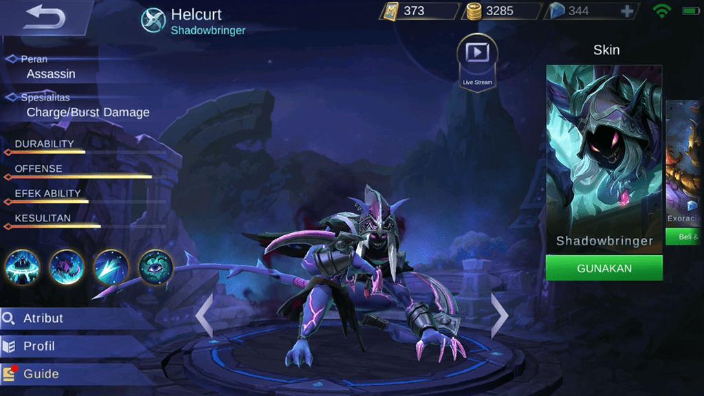 Hero Gear Helcurt Mobile Legends 0ec01
