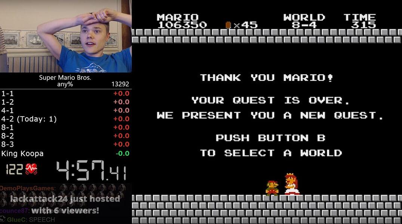 Super Mario Bros World Record 27586