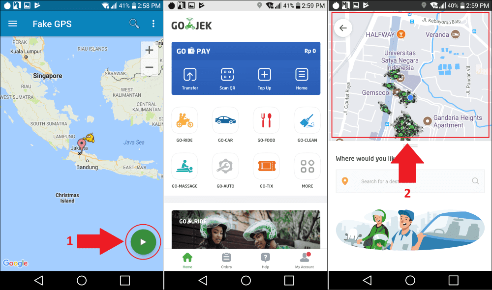 Cara Memasang Tuyul Grab Gojek Uber 4 C486b