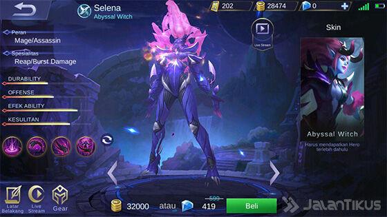 Selena Mobile Legends Abyssal D9009
