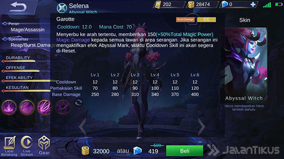 Selena Mobile Legends Skill 2 Abyssal 7a292