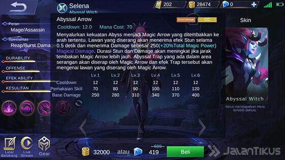 Selena Mobile Legends Skill 2 Elven 1b584